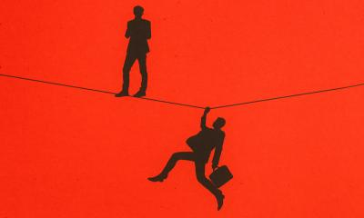 2 people on a wire